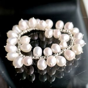 """NWT, freshwater pearl sterling silver """" cha cha"""" bracelet"""